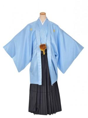 男性用袴・成人式・卒業式・水色紋付