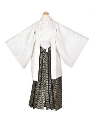男性用袴・成人式・白ラメ 2号
