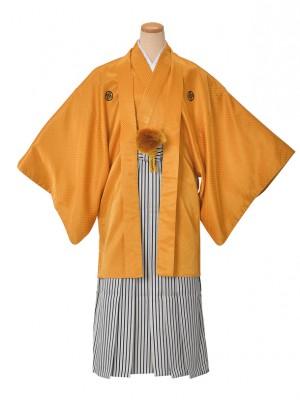 男性用袴・成人式・卒業式・山吹かのこ紋服