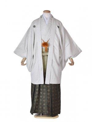 男性用袴・成人式・卒業式・白刺子ぼかし袴紋服