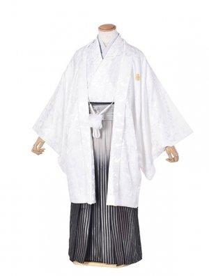 男性用袴・成人式・卒業式・白ぼかし紋服
