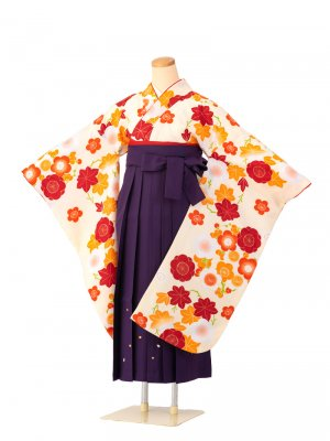 小学生卒業袴レンタル(女子)0062小町kids 刺繍袴