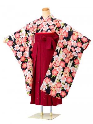 小学生卒業袴レンタル(女子)0045小町kids 刺繍袴