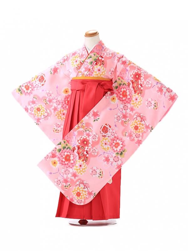 卒園式 ジュニア袴(女の子) 花の夢 ピンク 7186