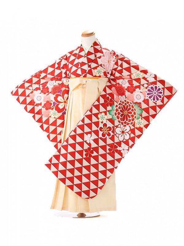 卒園式 ジュニア袴(女の子) 式部浪漫 赤 7261