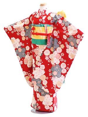 七五三7歳019赤/桜 ファンタジー