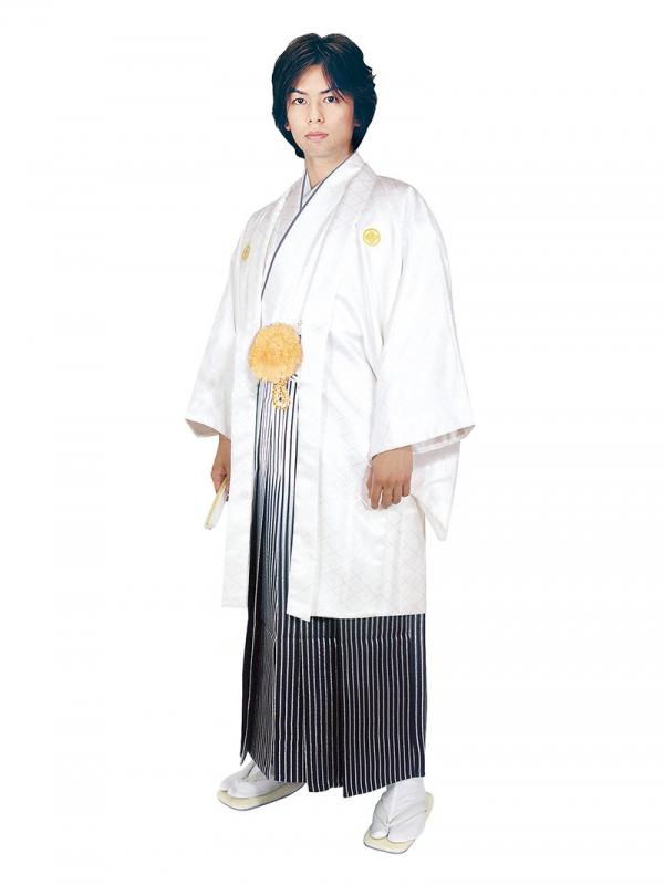 E-SV03-6-1 6号白紋付白/銀ぼかし袴