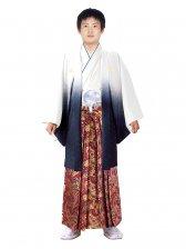 E-SV09-6-1 6号白/紺紋付金波に赤袴