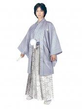 E-SV04-4-1 4号グレー紋付銀亀甲袴
