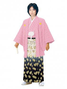 E-SV08-5-1 5号ピンク紋付金秋元瓜黒袴