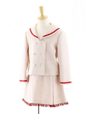 女児フォーマルスーツ セーラージャケット ピンク 0075 120cm