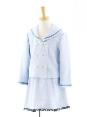 女児フォーマルスーツ セーラージャケット ブルー 0076 120cm