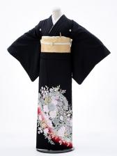 黒留袖レンタル3170桂由美バラの戯れ赤