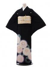 黒留袖レンタル3184おぼろ染め襲ね絞り菊