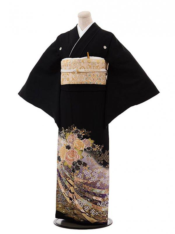 黒留袖レンタルQ3-51紫バラの園