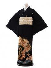 黒留袖レンタル3172縫い取り友禅道長金コマ