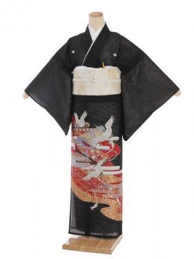 夏留袖3195 鶴に絵巻箱