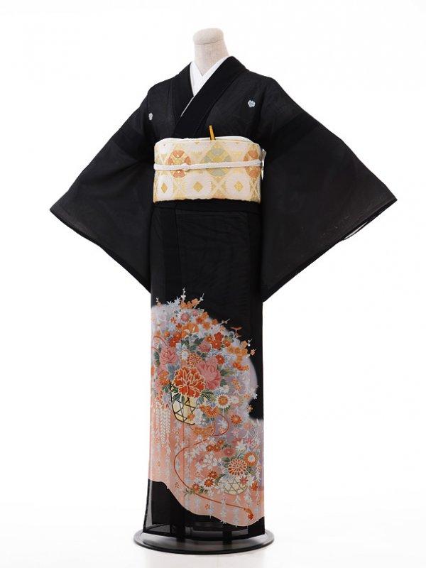 夏留袖3197 ピンク 花かご