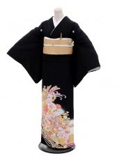 黒留袖Q3-45熨斗洋花