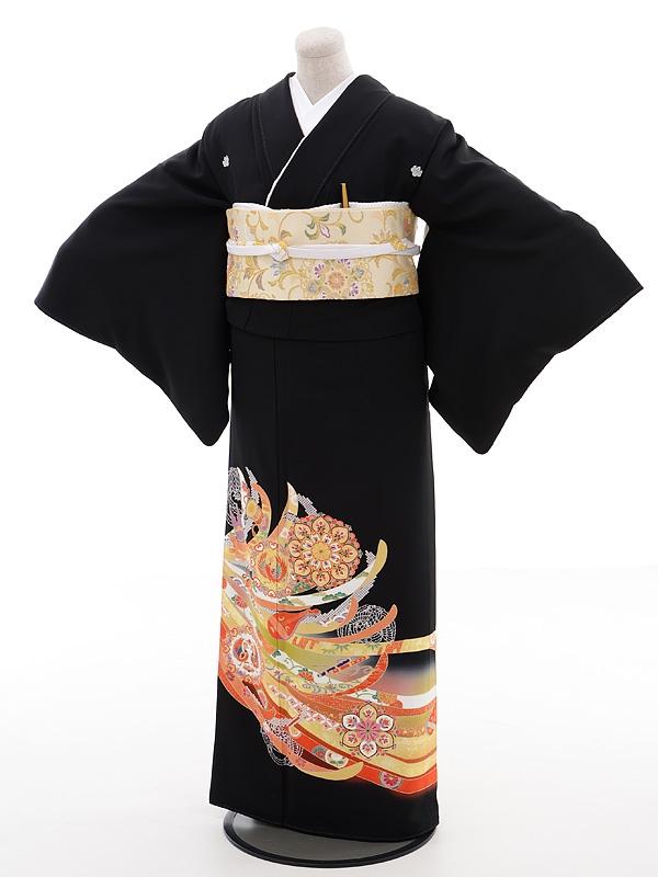 黒留袖レンタルQ3-48熨斗に正倉院文様