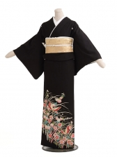 黒留袖レンタルC3021蝶花