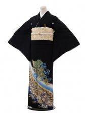 黒留袖レンタル3175桂由美神秘な花ブルー