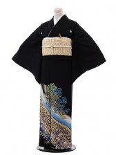 黒留袖3181桂由美神秘な花ブルー