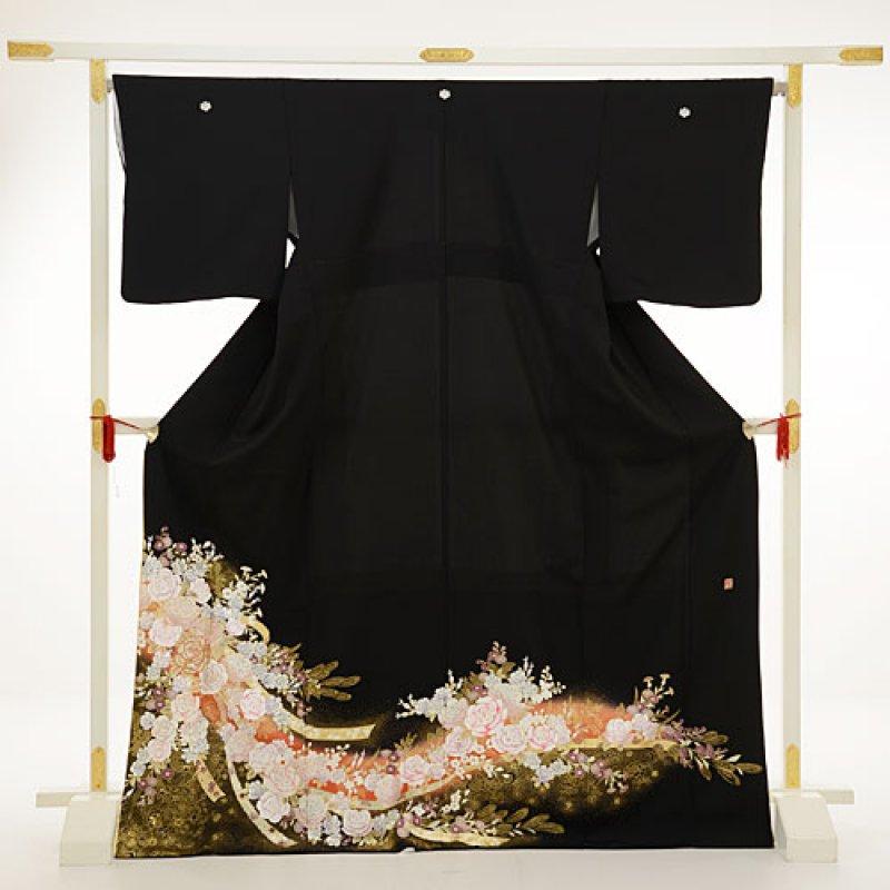 黒留袖レンタル3190桂由美バラオレンジ