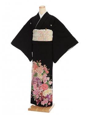 黒留袖レンタル3151祝い花盛り