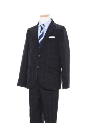 [男児スーツ]長ズボン/紺チェックウィンドペン/BS43
