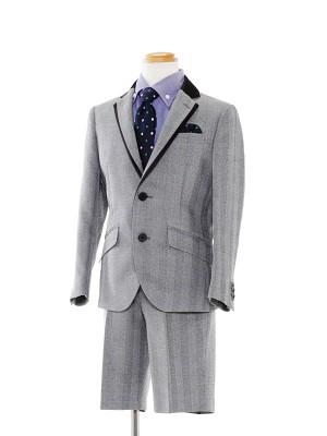 [男児スーツ]半ズボン/グレーチェック柄スーツ/BS30