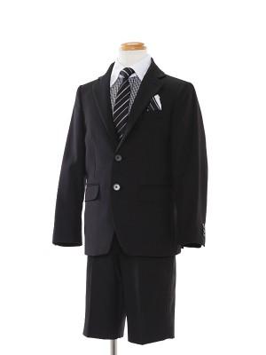 [男児スーツ]半ズボン/黒/モノトーンチェック/BS8