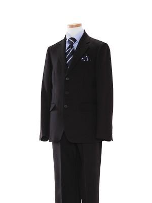 [男児スーツ]長ズボン/黒/ブルーシャツ/BE04