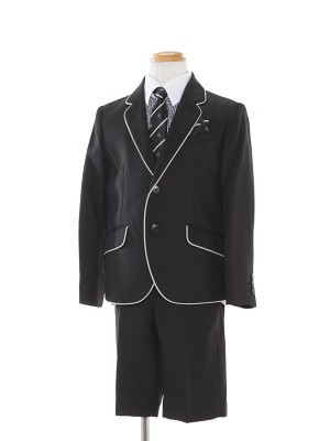 [男児スーツ]半ズボン/パイピングジャケットスーツ/BS33
