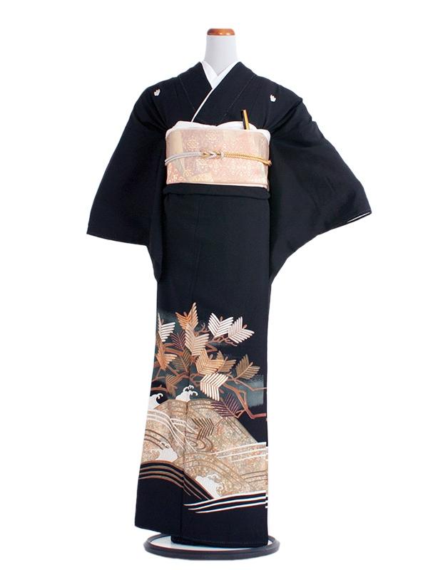 留袖 レンタル 281 金/銀の松/LL