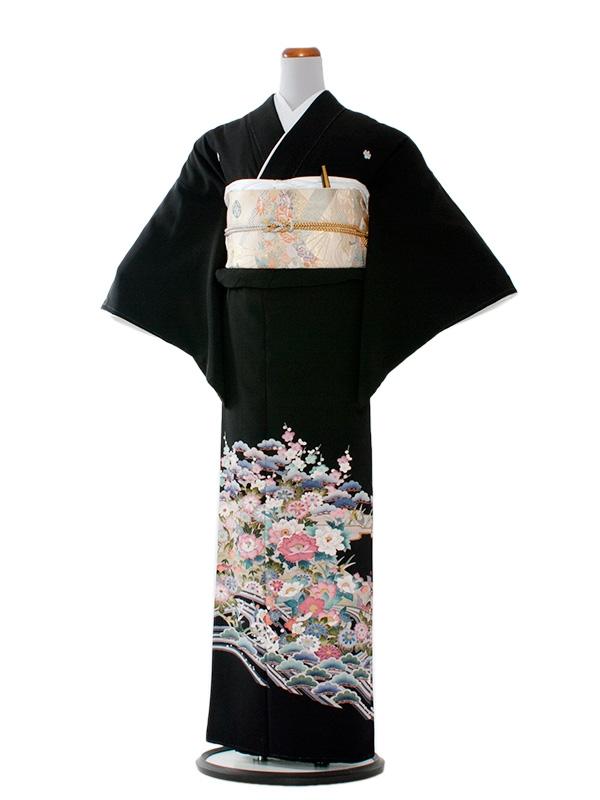 留袖 301 松と名カラフル洋花/L
