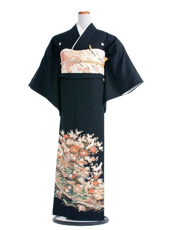 留袖 270 抹茶系/花と鶴