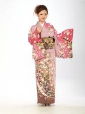 訪問着オリジナル桜 ピンク6114