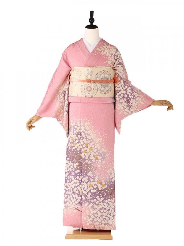 訪問着ピンク桜6117