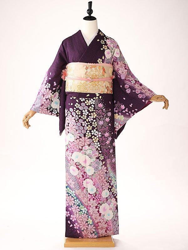 訪問着 紫 古典華園 KT6202