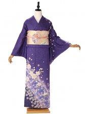 訪問着オリジナル桜青紫 6106