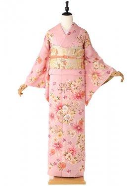 訪問着 ピンク 桜 KT6201