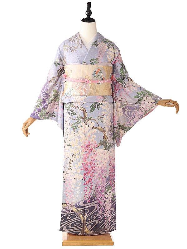訪問着オリジナル藤の花紫 6143