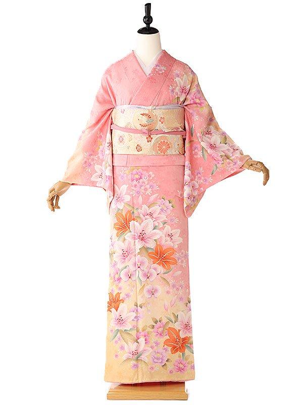 訪問着ピンク桜6164