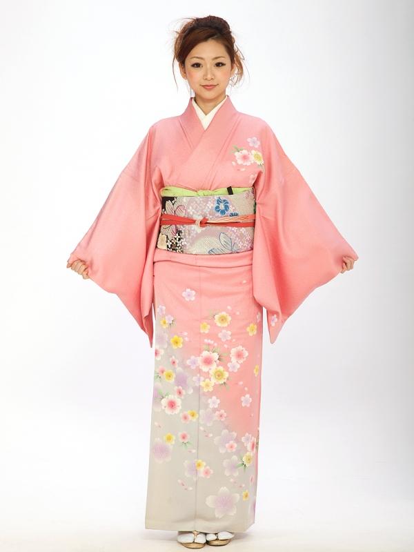 訪問着オリジナルピンク桜6109