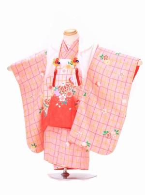 3歳 女の子 被布 F030 ピンク