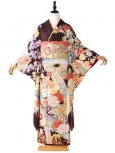 振袖344古代紫四季の柄桂由美