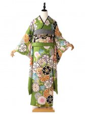 振袖367緑古典桜