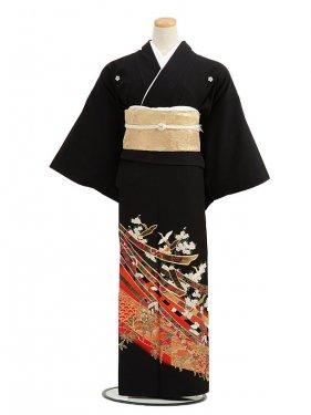 黒留袖レンタルC2011祝友禅小鶴