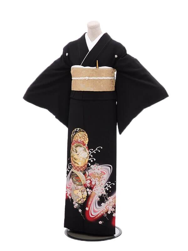 黒留袖レンタル2090祝波に桜